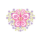 Butterfly, peace and love charity logo vector Royalty Free Stock Image