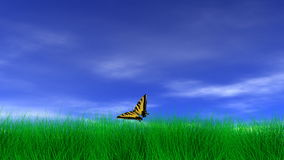 Butterfly on a Peaceful Day Stock Images