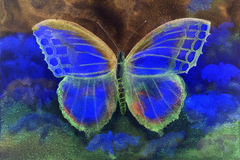 Butterfly in a phantasy world. Royalty Free Stock Image