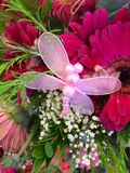 Butterfly pink bouquet Royalty Free Stock Images