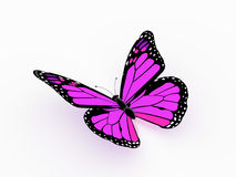 Butterfly pink rendered Royalty Free Stock Photo