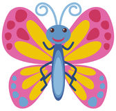 Butterfly with pink wings. Illustration Royalty Free Stock Image