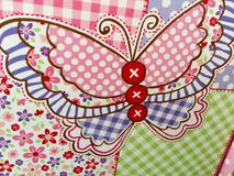 Butterfly plaid design background