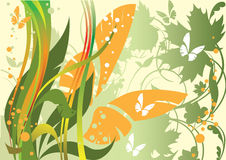 Butterfly and plants Royalty Free Stock Photos