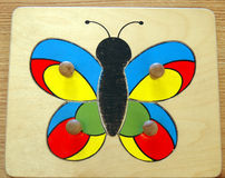 Butterfly puzzle Royalty Free Stock Image