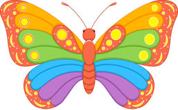 Butterfly Rainbow Royalty Free Stock Image