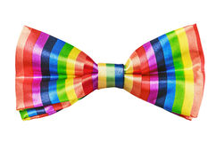 Butterfly rainbow tie isolated on white Royalty Free Stock Photo