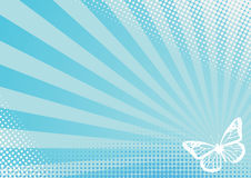 Butterfly Rays Dots Design Royalty Free Stock Images