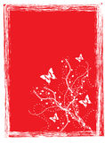 Butterfly Red Background. Work with vectors,illustration Royalty Free Stock Images