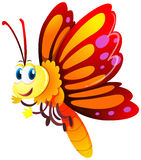 Butterfly with red and yellow wings. Illustration Stock Photos