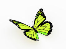 Butterfly rendered yellow Royalty Free Stock Photo