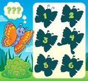 Butterfly riddle theme image 1 Royalty Free Stock Images