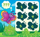 Butterfly riddle theme image 2 Stock Photos