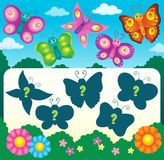 Butterfly riddle theme image 3 Royalty Free Stock Photos