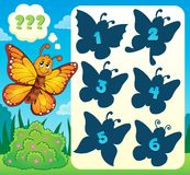 Butterfly riddle theme image 4 Stock Image