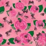 Butterfly rose seamless pattern Stock Photography