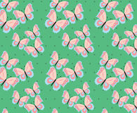 Butterfly in rose and serenity pastel colors. Pattern with dots. Vector Stock Photo