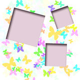 Butterfly scrapbook frame Stock Image