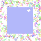 Butterfly scrapbook frame Stock Images