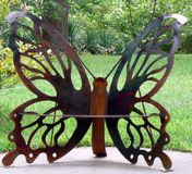 Butterfly Sculpture stock images