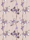 Butterfly seamless. Seamless background with butterfly decorative patterns Stock Photo