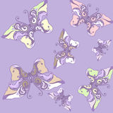 Butterfly seamless. Seamless background with butterfly decorative patterns Royalty Free Stock Images