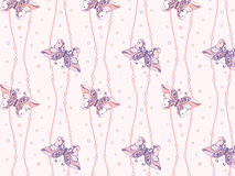 Butterfly seamless 3. Seamless background with butterfly decorative patterns and beads Royalty Free Stock Images