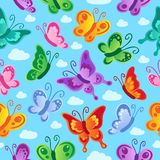 Butterfly seamless background 2. Vector illustration Stock Images