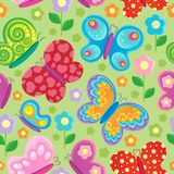 Butterfly seamless background. Vector illustration Stock Photo