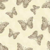 Butterfly seamless background Royalty Free Stock Photos