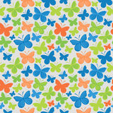 Butterfly Seamless Colored Pattern Stock Images
