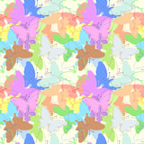 Butterfly seamless pattern. Abstract natural seamless preparation for the designer Stock Image