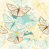 Butterfly seamless pattern Stock Photography