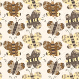 Butterfly seamless pattern background Stock Photography