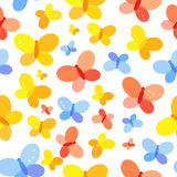 Butterfly Seamless Pattern Background Vector Illustration. EPS10 Royalty Free Stock Image