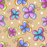 Butterfly seamless pattern Royalty Free Stock Photography