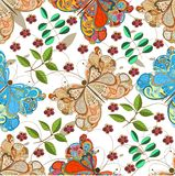 Butterfly seamless pattern vector illustration