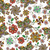 Butterfly seamless pattern stock photography