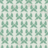 Butterfly Seamless Pattern - Green Colors on Grunge Background Royalty Free Stock Photo