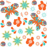 Butterfly Seamless Pattern. It Is Located In Swatch Menu, Stock Photography