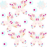 Butterfly  seamless pattern. It is located in swatch menu,  vect Royalty Free Stock Photo