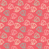 Butterfly seamless pattern pink background in vector. Royalty Free Stock Image