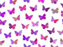 Butterfly seamless pattern. Seamless pattern of butterflies. Multicolored butterflies. Stock Images