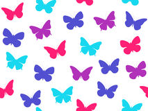 Butterfly seamless pattern. Seamless pattern of butterflies. Multicolored butterflies. Vector Royalty Free Stock Photos