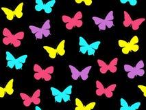 Butterfly seamless pattern. Seamless pattern of butterflies. Multicolored butterflies. Stock Image