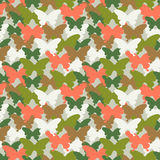 Butterfly seamless pattern. Suitable for web background, textile print, wrapping paper.  illustration seamless pattern. Royalty Free Stock Images