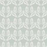 Butterfly Seamless Pattern - White on Beige / Gray Background - Optical Illusion Stock Photography