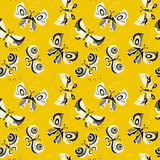 Butterfly seamless vector pattern for surface design. Stock Photography