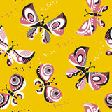 Butterfly seamless vector pattern for surface design. Royalty Free Stock Image