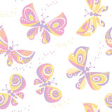 Butterfly seamless vector pattern for surface design. Royalty Free Stock Images